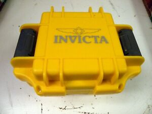 Invicta 1 Slot Dive Case Waterproof Impact Resistant Hard Plastic Yellow New