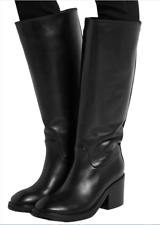 Acne Studios  'egor'  HIGH HEEL  WOMEN BLACK LEATHER  RIDING BOOTS  EU 39  US 9