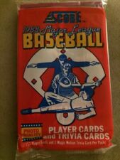 Vintage 1988 Score Baseball Card Pack Gary Gaetti Top Dave LaPoint Back Showing