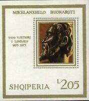 Albania 1975  Sc1660  MiBlk56  mnh  Michelangelo