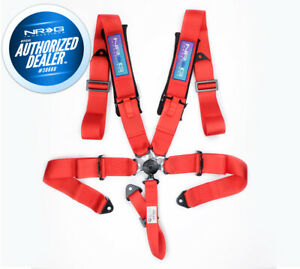 NEW NRG 5 POINT SFI APPROVED CAM LOCK SEAT BELT HARNESS IN RED SBH-B6PCRD