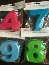 Birthday Number Cake Moulds 4,7,8,9 4' 10cm