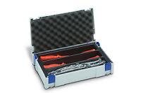 TANOS MINI Systainer Classic Gr. 1 licht grau + Einsatz 3- fach & Deckel polster