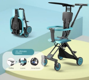 Two-way Baby Stroller Pro Ultra-Light Small Portable Folding Cart High Landscape