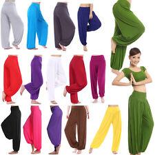 femmes décontracté pantalon sarouel yoga taille élastique DANSE CLUB BOHO Large