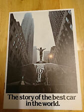 """1977 Rolls Royce - """"The story of the best car in the world"""" Brochure"""