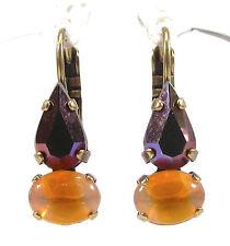 SoHo® Ohrhänger Ohrringe tropfen vintage jais sabrina 1960´s handgemachtes Glas