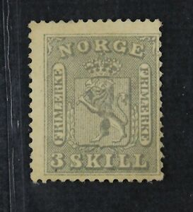 CKStamps: Norway Stamps Collection Scott#7 Unused NG