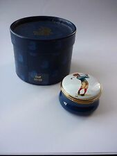 RARE ALASTOR ENAMELS GOLF PILL BOX BOXED AND IN PERFECT CONDITION