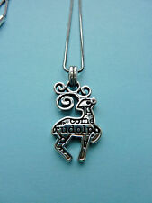 BRIGHTON B JOLLY REINDEER NECKLACE/SILVER/ROUDOLPH/CHRISTMAS/NWT