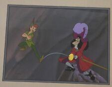 """Disney Animation Art Cel Limited Edition Peter Pan & Captain Hook, """"Skull Rock"""""""