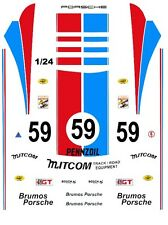 #59 BRUMOS PORSCHE 1/25th - 1/24th Scale Waterslide Decals