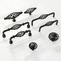 Cabinet Hardware Bird Cage Knobs kL49 Black Antique 2-5//16/""