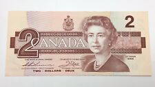 1986 Canada 2 Two Dollars Prefix BBA Canadian Uncirculated Banknote E420