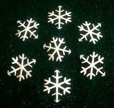 -:- 15 White Snowflakes -:-  2.5cm - Cardmaking, Crafts, Embellishments etc...