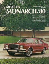 Mercury Monarch 1980 USA Market Sales Brochure 2-dr 4-dr Ghia ESS