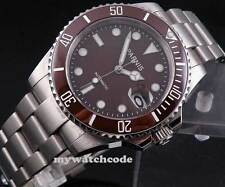 40mm Parnis coffee dial Automatic MIYOTA movment sapphire glass Mens Watch P174