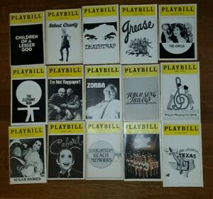 Lot of 15 80's Broadway Playbills