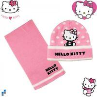 Hello Kitty Hiver Enfants 2's Set Bonnet et Écharpe Fille Chapeau