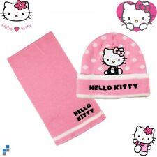 Hello Kitty Niños Winter 2er Set Gorra y Bufanda Niñas Sombrero