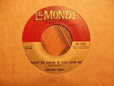 GARLAND OWENS I Want To Know If You Love Me LEMONDE 1502 RARE SOUL 45 - NM