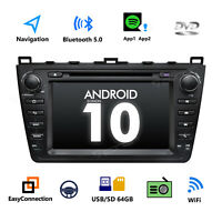 "For Mazda 6 2009-2012 8"" Android 10 Car GPS Stereo Radio DVD DAB+ OBD2 Bluetooth"