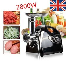 New 2800W ELECTRIC MEAT GRINDER STAINLESS STEEL SAUSAGE FILLER MINCER MAKER UK
