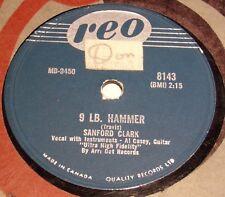 Reo 8143 Sanford Clark 9 LB. Hammer / OOO Baby 78 RPM E+ E+ RARE