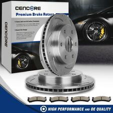Front Brake Rotors Ceramic Pads Kit for Cadillac Escalade Chevy Silverado Tahoe