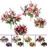 EG_ 21 Heads Artificial Fake Silk Rose Leaf Flower Garland Home Wedding Decor Ne