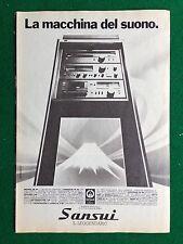 PX103/104/105 Clipping Pubblicita' Advertising (1980) 24x17 cm - STEREO SANSUI