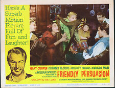 FRIENDLY PERSUASION original lobby card GARY COOPER/ANTHONY PERKINS 11x14 poster
