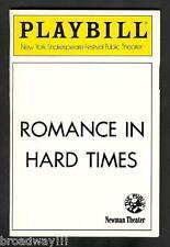 "William Finn ""ROMANCE IN HARD TIMES"" Lillias White 1989 Musical FLOP Playbill"