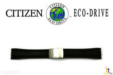 Citizen Eco-Drive E650-S075173 24mm Black Rubber Watch Band Strap E650-S076579
