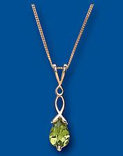 Peridot Pendant Peridot Necklace Yellow Gold Peridot Pendant Peridot Twist