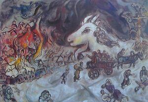 Marc Chagall The War Kunsthaus Zurich Poster Russian 1887-1985 Surrealism