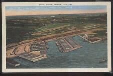 Postcard MOBILE AL  State Shipping Boat Docks Bird's Eye Aerial view 1930's