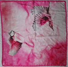 -Superbe grand foulard TED BEKER London soie   TBEG vintage scarf 100 x 100 cm