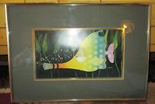Vintage Framed S. Moskowitz Musical Fish Print