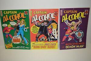 Captain Alcohol Comic North West Territories Canada Lot of 3 Arctic Comics