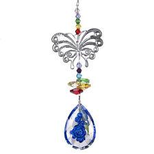 Crystal Suncatcher Butterfly Hanging Blue Rose Drop Decor Window Pendant Gifts