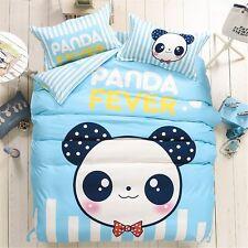 LA MEJOR Twin Size Cotton & Microfiber Mr.panda Bedding Set Bed Linens Duvet
