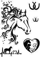 STENCILS CRAFTS TEMPLATES SCRAPBOOKING  HORSE HEAD MULTI STENCIL- 175  A4 MYLAR