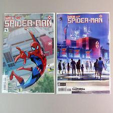 WEB OF SPIDER-MAN #1, 1st App Harley Keener, 2 Marvel Comics 2021, Covers A & B