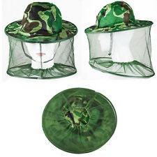 Insect Bee Mosquito Bug Resistance Net Mesh Head Face Protector Fish Cap Sun Hat