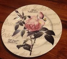 3 Piece Creative Tops England Redoute Rose Coffee Cup Saucer & Plate Fine Bone