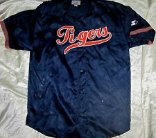 Vintage 80's Starter Detroit Tigers Navy 2XL Embroidered Batting Practice Jersey