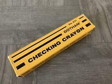Vintage 50's Black Gotham Marking Checking Crayons 10 Ten Binney Smith No. 231