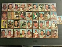 (Lot of 37) 1962 Topps Baseball Cards (Davis, Kaat, Rookie) EX-NM & NM Condition
