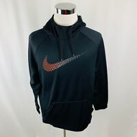 Nike Dri-Fit Black Swoosh Hooded Sweatshirt Men's Medium M